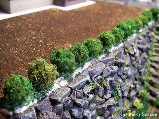 マイクロエース(旧アリイ)トヨペット・クラウン(1/32)ジオラマ製作記 低木の植栽