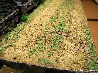 マイクロエース(旧アリイ)トヨペット・クラウン(1/32)ジオラマ製作記 橋に生えた草