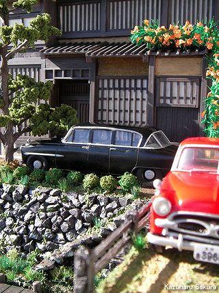 マイクロエース(旧アリイ)トヨペット・クラウン(1/32)ジオラマ「小京都の旅」完成画像